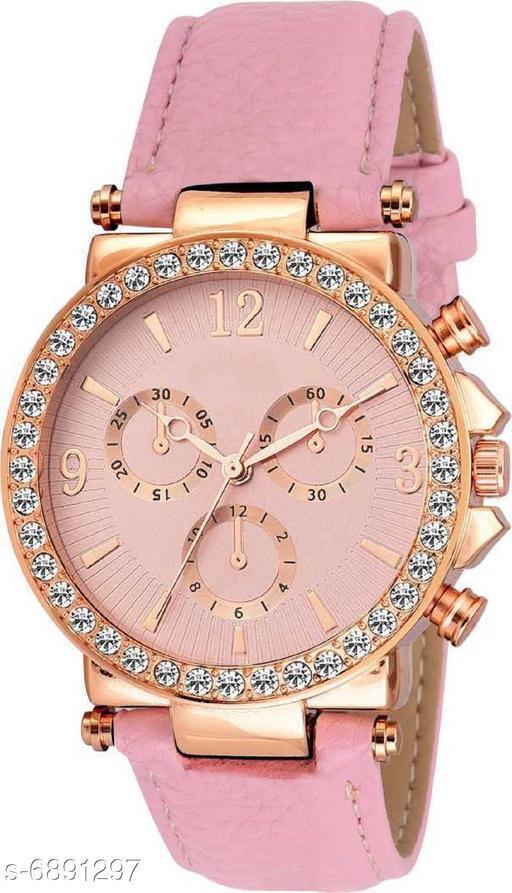 HRV Geneva White Platinum Analog Dial Leather Watch - For Women girls watches Analog Watch