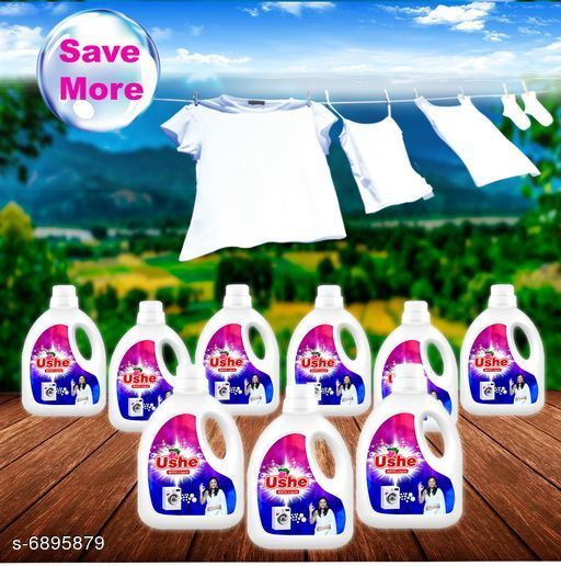 Detergents Detergent   *Product Name* Ushe Matic Detergent  *Product Type* Detergent  *Brand Name* Ushe  *Capacity* 1 Ltr (Each)  *Multipack* 9  *Sizes Available* Free Size *    Catalog Name: Detergent CatalogID_1100860 C89-SC1744 Code: 5771-6895879-