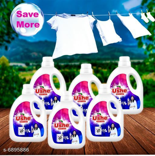 Detergents Detergent   *Product Name* Ushe Matic Detergent  *Product Type* Detergent  *Brand Name* Ushe  *Capacity* 1 Ltr (Each)  *Multipack* 6  *Sizes Available* Free Size *    Catalog Name: Detergent CatalogID_1100860 C89-SC1744 Code: 3121-6895886-
