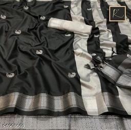 Latest Trendy Women's Cotton Silk saree with Blouse Piece
