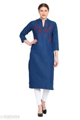 Women's Embroidered Straight Kurta