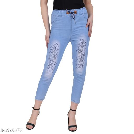 Womens Printed Jeans