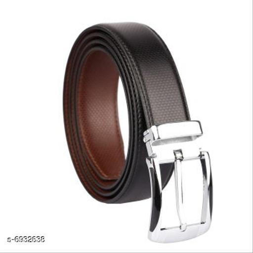 Trendy Men's Brown Faux Leather/Leatherette Belt
