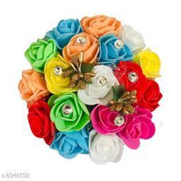 GaDinStylo Full Juda Gajra Bun Hair Flower Artificial flower gajra Multicolor pack of 1