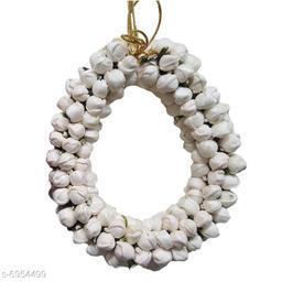 GuruEmbellish Hair Bun Mogra Flower Gajra for Women in White Pack-01