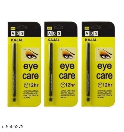 Eyes ADS Eye Care 12hr. Black kajal pencil (peck off 3)   *Product Name* ADS Eye Care 12hr. Black kajal pencil (peck off 3)  *Pack of* 3  *Type* Pencil  *Type* Pencil  *Sizes Available* Free Size *    Catalog Name:  ADS Eye Care 12hr. Black kajal  pencil (peck off 2) CatalogID_1111374 C51-SC1242 Code: 961-6959376-