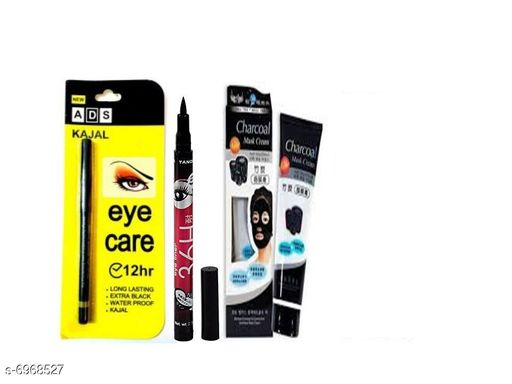 Eyes ADS Eye Care 12 Hr. kajal 1 +  Eye liner 1 + char coal 1  *Product Name* ADS Eye Care 12 Hr. kajal 1 +  Eye liner 1 + char coal 1  *Brand Name* ADS  *Type* Stick  *Multipack* 1  *Add On* 1 Eye Liner, 1 char coal ADS Eye Care 12 Hr. kajal 1 +  Eye liner 1 + char coal 1, 30 gms  *Sizes Available* Free Size *    Catalog Name: ADS Premium Intense Kajal CatalogID_1112649 C51-SC1242 Code: 822-6968527-