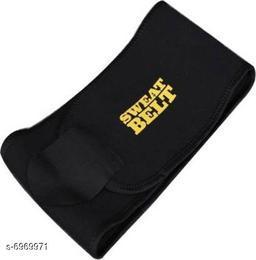 Sweat Waist Trimmer Fat Burner Belly Tummy Yoga Wrap Black Exercise Body Slimming Belt for Men & Women