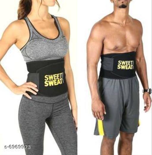 Sweating Waist Trimmer Fat Burner Belly Tummy Yoga Wrap Black Exercise Belt Free Size