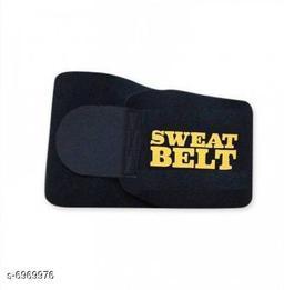 Slim Belt Non-Tearable Neoprene Material Tummy Trimmer Waist Trainer Slimming Belt for Men and Women - (Black, Free Size)