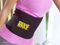 Sweat Belt Belt Sweat Waist Trimmer Fat Burner Belly Tummy Waist Sweat Belt/Adjustable Sweat Belt Waist Trimmer for Men & Women