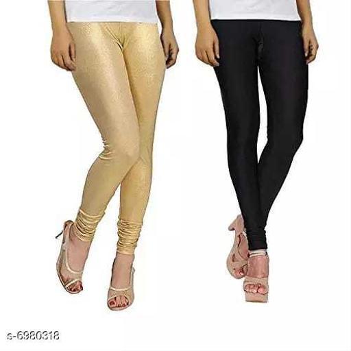 Shiny Skiny Satin Lycra Stylish Leggings Combo