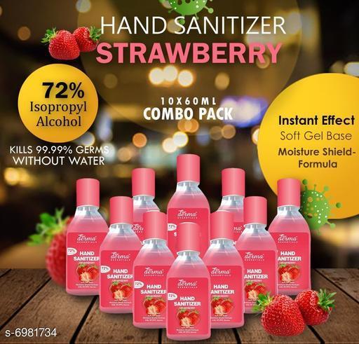 True Derma Essentials Flavoured Sanitizer (Strawberry) Pack of 10 - 60ML