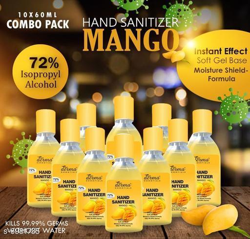 True Derma Essentials Flavoured Sanitizer (Mango) Pack of 10 - 60ML