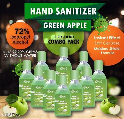 True Derma Essentials Flavoured Sanitizer (Green Apple) Pack of 10 - 60ML