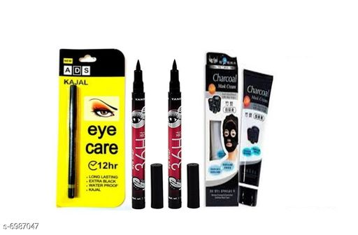Eyes ADS Eye Care 12 Hr. kajal 1+  Eye liner 2 + char coal 1  *Product Name* ADS Eye Care 12 Hr. kajal 1+  Eye liner 2 + char coal 1  *Brand Name* ADS  *Shade* Black  *Type* Pen  *Multipack* 1  *Add On* Eye Liner, Kajal, CharCoal  *Product Name* ADS Eye Care 12 Hr Water Proof kajal+Eye liner+char coal, Product Type  *Sizes Available* Free Size *    Catalog Name: ADS Sensational Collection Kajal CatalogID_1115317 C51-SC1242 Code: 762-6987047-