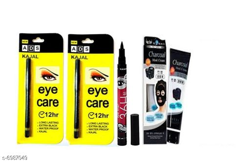 Eyes ADS Eye Care 12 Hr. kajal 1 +  Eye liner 1 + char coal 2  *Product Name* ADS Eye Care 12 Hr. kajal 1+  Eye liner 2 + char coal 1  *Brand Name* ADS  *Shade* Black  *Type* Pen  *Multipack* 1  *Add On* Eye Liner, Kajal, CharCoal  *Product Name* ADS Eye Care 12 Hr Water Proof kajal+Eye liner+char coal, Product Type  *Sizes Available* Free Size *    Catalog Name: ADS Sensational Collection Kajal CatalogID_1115317 C51-SC1242 Code: 682-6987049-