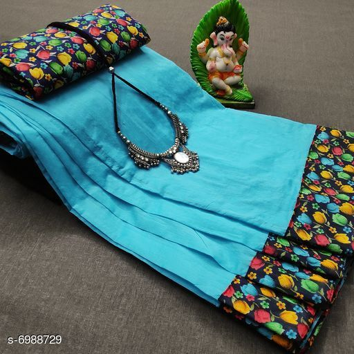 Pretty Cotton Women  Saree