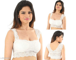 Women Lightly Padded Fully Lace Blouse