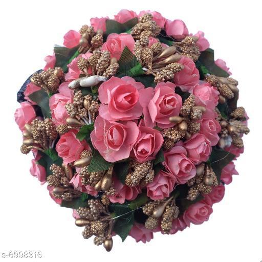 GuruEmbellish Bun Juda Maker Flower Gajra Hair Accessories For Women and Girls Multicolored for Wedding