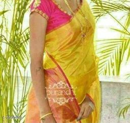 Trendy Linen Women's  Saree