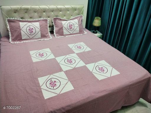 Bedding Set Double Bedsheet With 2 Pillow Covers  *No. of Bedsheets* 1  *No. of Pillow Covers* 2  *Thread Count* 160  *Sizes*   *Free Size (Bedsheet Length Size* 90 in, Bedsheet Width Size  *Sizes Available* Free Size *    Catalog Name: Gorgeous Stylish Bedding Set CatalogID_1117621 C53-SC1103 Code: 408-7002267-