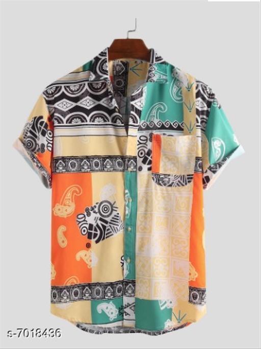 Bindani studio Premium Poly Cotton Casual Shirt For Men