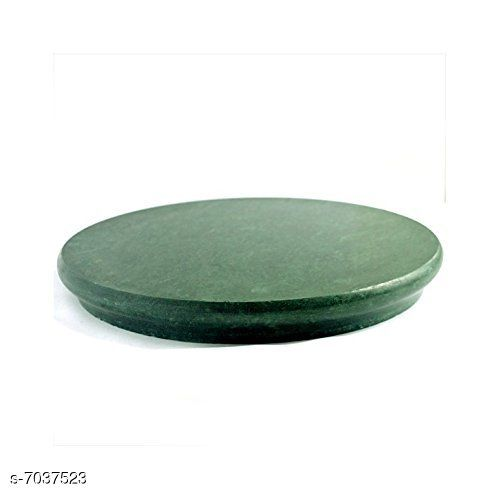 HeeMo Green Marble Chakla/Marble Roti Maker/Phulka Maker/Marble Ring Base Rolling Board, Size 9 Inch