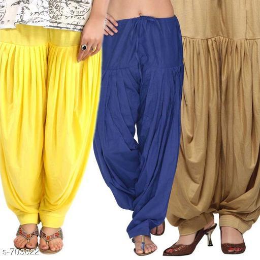 Stylish Cotton Patiala Salwars (Set of 3)