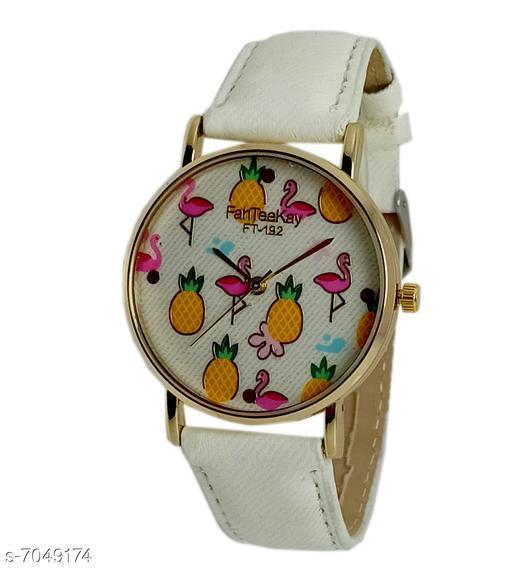 Wonder Fashion Casual Style Quartz Elegant Wrist Watch with PU Leather Strap for Beauty Women N Girl's