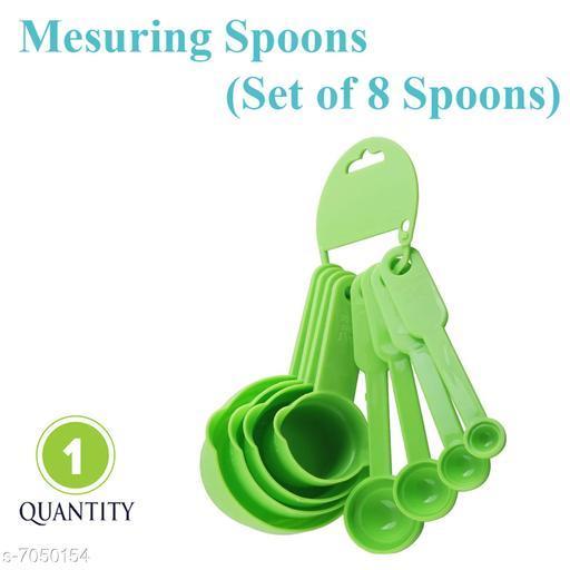 Kitchen Bake cake Ingridients Measuring Spoon Set Green - 8 Spoon