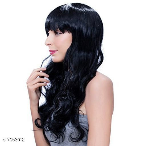 Hair Accessories wig  *Product Name* wig  *Color* Black  *Multipack* 1 Beautiful wig  *Sizes Available* Free Size *    Catalog Name:  Advanced Artifical Hair Extensions CatalogID_1125316 C72-SC1088 Code: 9261-7053012-0005