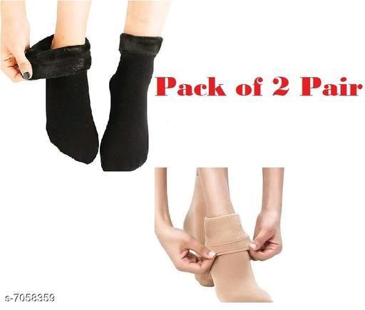 Beautiful Woolen Velvet Socks