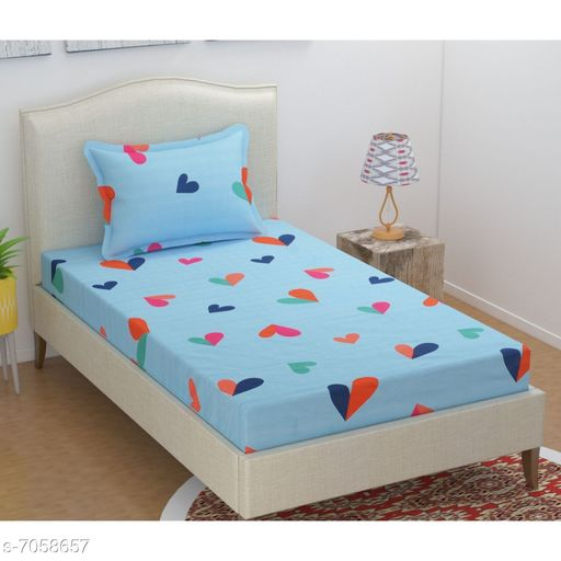 Supersoft Single Bedsheet with 1 pillow cover.