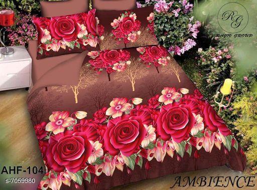 BEAUTIFUL FLOWER PRINTED BEDSHEET