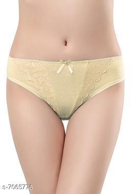 Women Seamless Grey Cotton Panty