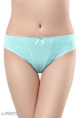 Women Seamless Mint Green Cotton Panty