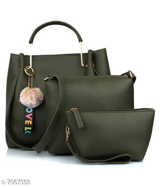 Ethnic Women's Multipack Olive Handbag