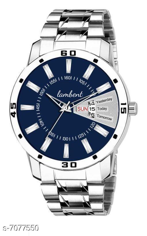 blue dail man's watch