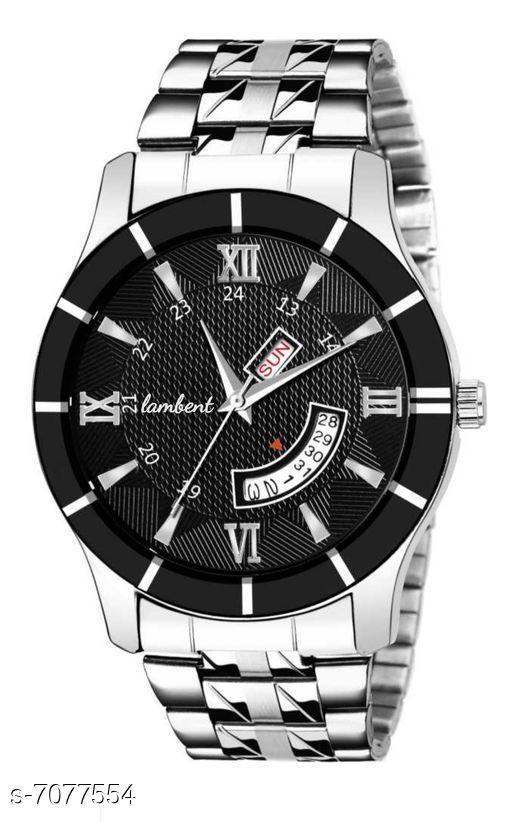 black dail man's watch