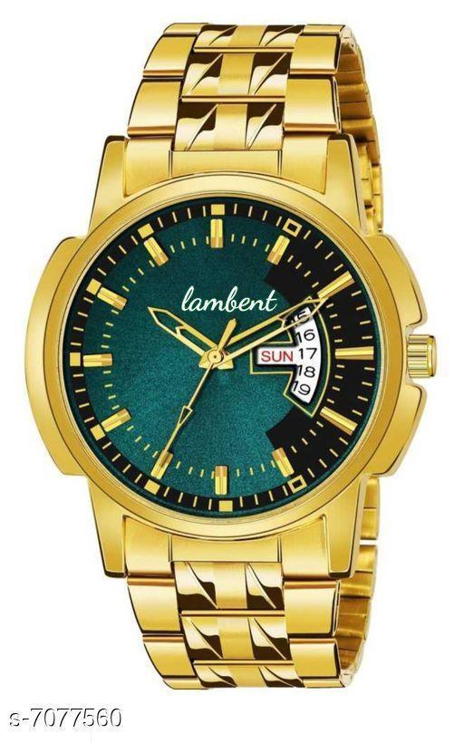 gold chan man's watch