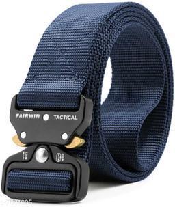 Trendy Men's Blue Canvas Belt