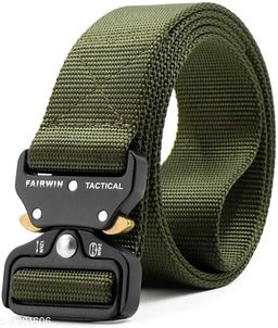Winsome Deal  Canvas Green Regular Belt for Men's