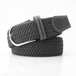 Winsome Deal  Canvas Grey Regular Belt for Men's