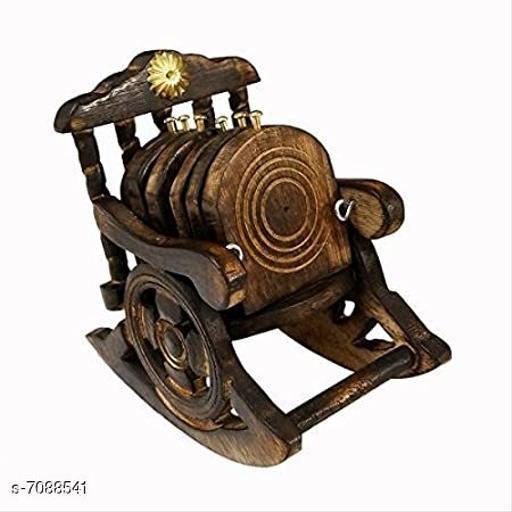 Wooden Chair shaped tea coaster