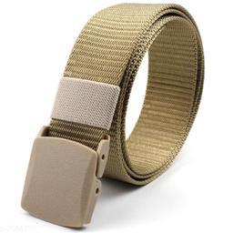 Winsome Deal  Canvas Cream Regular Belt for Men's