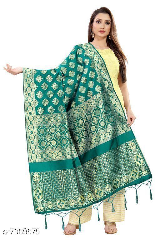 Clothing Set Baby night suit  *Fabric* Banarasi Silk  *Pattern * Printed  *Multipack * 1  *Size * Free Size ( Length Size  *Sizes Available* Free Size *    Catalog Name: Elegant Banarasi Silk Women Dupatta CatalogID_1131507 C59-SC1182 Code: 974-7089875-