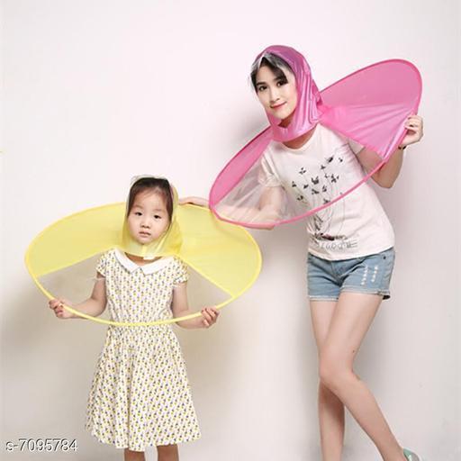 Kid's UFO Shape Umbrella Hat (Multicolour), 2 Pc