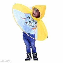 Kid's UFO Shape Umbrella Hat (Multicolour), 1 Pc