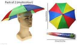 Kid's Umbrella Hat (Multicolour), 2 Pc